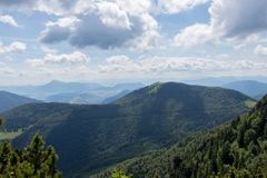 Mountain view northern Slovakia. Amazing view of mountain in Slovakia royalty free stock photo