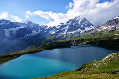 Amazing view in the mountains. Beautiful view of the Mattherhorn Royalty Free Stock Image