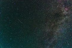 Amazing view on night sky. With start and part of Milky Way stock photos