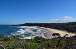 Amazing view in the Noosa National Park. Queensland Australia royalty free stock photography