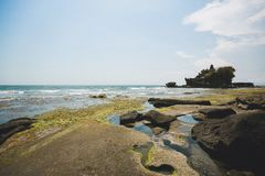 Amazing view от the temple Tanah Lot Bali royalty free stock photo