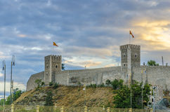 Amazing View Of Old Stone Citadel, Skopje, Macedonia Stock Images