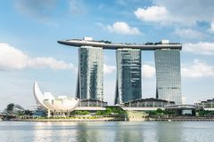 Free Amazing View Of The Famous Marina Bay Sands Hotel, Singapore Stock Photo - 143477030