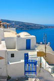 Amazing view of Oia in Santorini Stock Image