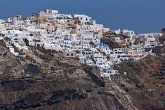 Amazing view of Oia town, Santorini island, Greece Royalty Free Stock Image