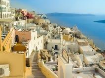 Amazing view of Oia village at Santorini Stock Photos