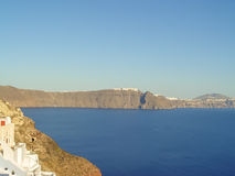 Amazing view from Oia village at Santorini Stock Image