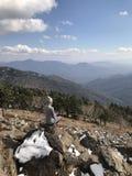 Landscape from peak of mountain Falaza. stock image