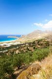 Amazing view over the bay of Falassarna, Crete island, Greece Royalty Free Stock Photo