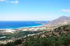 Amazing view over the bay of Falassarna, Crete island, Greece Stock Images