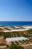 Amazing view over the bay of Falassarna, Crete island, Greece Stock Image