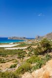 Amazing view over the bay of Falassarna, Crete island, Greece Stock Photos