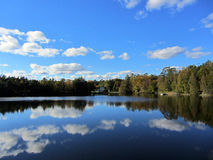 Amazing view over a lake Stock Photography