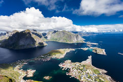 Amazing view over Reine Stock Photo