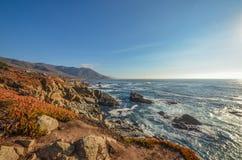 Amazing view of Pacific coast, California. Beautiful coast near Big Sur, California Stock Images