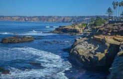 Amazing view of Pacific coast, California. Beautiful pacific coast near San Diego, California Stock Photos