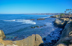 Amazing view of Pacific coast, California Royalty Free Stock Image