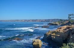Amazing view of Pacific coast, California. Beautiful pacific coast near San Diego, California Royalty Free Stock Image