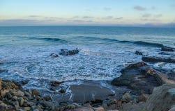Amazing view of Pacific coast, California. Beautiful pacific coast near Santa Barbara, California Royalty Free Stock Photo