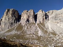 Huge peaks in Northern Italy royalty free stock image