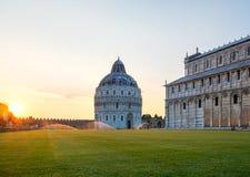 Amazing view of Pisa Baptistery of St.John Battistero di San Giovanni di Pisa Royalty Free Stock Photography