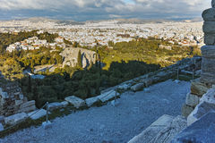 Amazing view of Propylaea - monumental gateway in the Acropolis of Athens. Attica, Greece Stock Images
