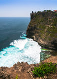 Amazing view from Pura Uluwatu temple, Bali, Indonesia. Royalty Free Stock Images