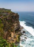Amazing view from Pura Uluwatu temple, Bali, Indonesia. Royalty Free Stock Image