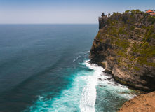 Amazing view from Pura Uluwatu temple, Bali, Indonesia. Stock Photography