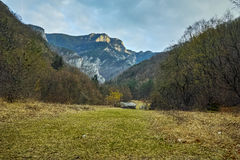 Amazing view of Red wall peak,  Rhodopes Mountain, Plovdiv region Stock Photography