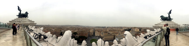 Amazing view in Rome. Royalty Free Stock Photography