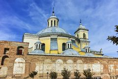 Amazing view of San Francisco el Grande church in City of Madrid royalty free stock images