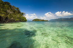 Amazing view from the shores of of a tropical island. Koh Chang. Stock Image
