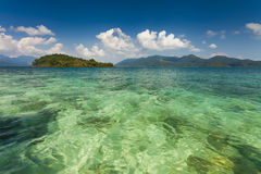 Amazing view from the shores of of a tropical island. Koh Chang. Royalty Free Stock Photos