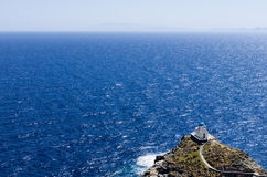 Amazing view in Sifnos island, Cyclades, Greece Royalty Free Stock Images