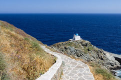 Amazing view in Sifnos island, Cyclades, Greece Royalty Free Stock Photos