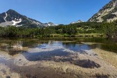 Amazing view of Sivrya peak and Banski lakes, Pirin Mountain Stock Photos