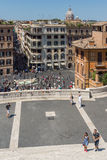 Amazing view of Spanish Steps and Piazza di Spagna in city of Rome, Italy Stock Image