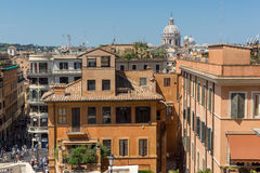 Amazing view of Spanish Steps and Piazza di Spagna in city of Rome, Italy Stock Photography