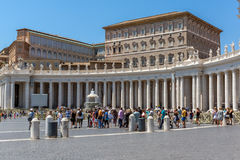 Amazing view of St. Peter`s Basilica and Saint Peter`s Square, Vatican City, Rome, Ital Stock Images