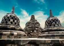 Borobudur Buddhist temple. Magelang, Java, Indonesia royalty free stock photos