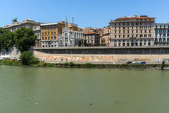 Amazing view of The Supreme Court of Cassation and Tiber River in city of Rome, Italy Stock Photo