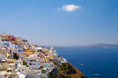 Amazing view of Thira Royalty Free Stock Image