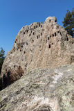 Amazing view of Thracian Sanctuary Eagle Rocks near town of Ardino,  Bulgaria Stock Image