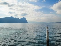 Amazing view to lake Zug from harbour at mount Rigi. Switzerland Royalty Free Stock Photos