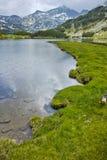 Amazing view to Muratovo lake and Banderishki chukar peak, Pirin Mountain Royalty Free Stock Photos