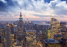 Amazing view to New York Manhattan - New York City Royalty Free Stock Image