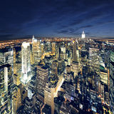 Amazing view to new york manhattan - newyork city Royalty Free Stock Photo