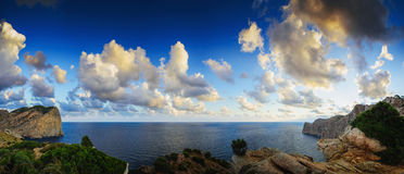 Amazing view to the sea and the coast in Mallorca Royalty Free Stock Images