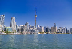 amazing view of Toronto downtown from the lake Ontario Stock Images